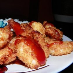 Coconut Shrimp With Guava Sweet and Sour Sauce