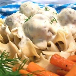 Meatballs in Dill Sauce