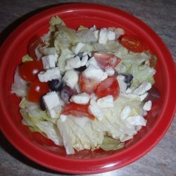 Sorta Greek Salad W/ Dressing