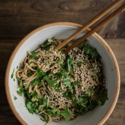 Spinach and Noodles