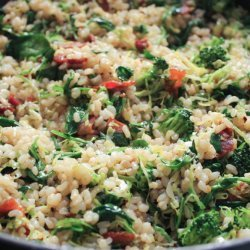 Wilted Greens With Rice