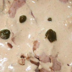 Turkey Tonnato (Italian Cold Turkey in Tuna Caper Sauce)