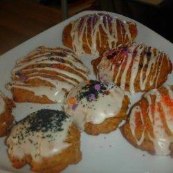 Vegan Iced Pumpkin Cookies