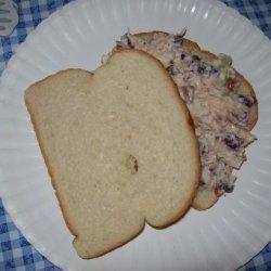 Cranberry-Almond Chicken Salad Sandwich recipe