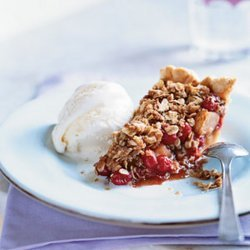Pear Cranberry Pie With Oatmeal Streusel
