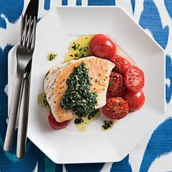 Pan Roasted Halibut With Tomatoes