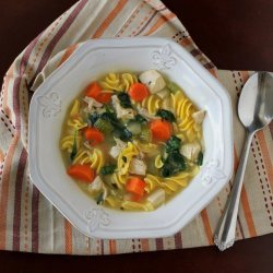 Spinach Chicken Noodle Soup