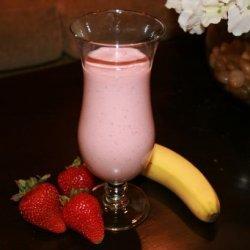 Healthy Strawberry-Banana Smoothie (W/Rice Bran)