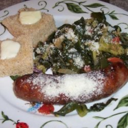 Italian Sausage With Broccoli and Collards (Or Kale)