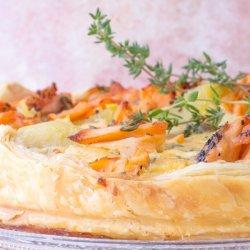 Salmon and Potato Quiche