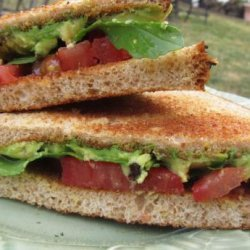 Avocado & Tomato Sandwiches With Lemon Myrtle & Pepperbe recipe