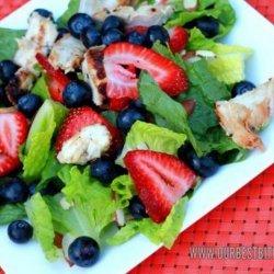 Grilled Chicken Berry Salad