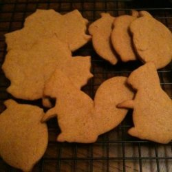 Holiday Gingerbread Cutout Cookies