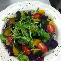 Sweet Potato & Pumpkin Salad With Tofu Dressing