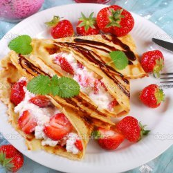 Cottage Cheese Pancakes with Fresh Strawberries