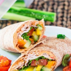 Turkey, Veggie & Hummus Wrap