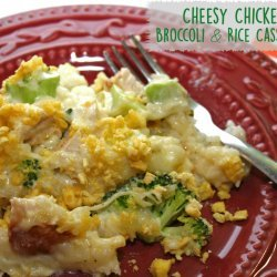 Cheesy Rice and Broccoli Casserole with Chicken