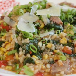 Corn Risotto with Sausage