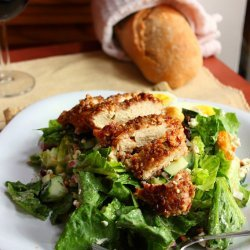 Salad: Chicken, Pecans, and Goat Cheese