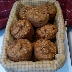 Healthy Banana-Oatmeal-Craisin Muffins - Ww Points Plus = 4