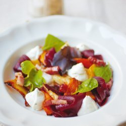 Winter's Salad With a Goat Cheese Mousse