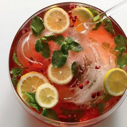 Pomegranate Champagne Punch