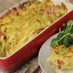 Pasta Baked With Peas and Ham