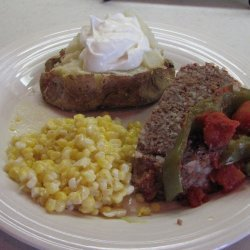 Meatloaf and Stuffed Peppers