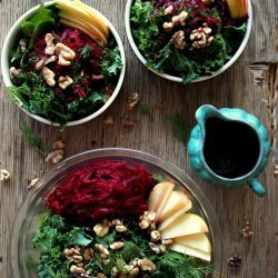 Beet Apple Walnut Salad