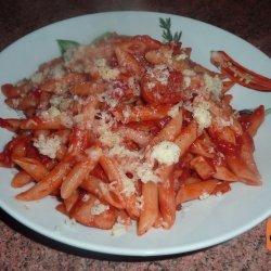Tomato and Sausage Pasta