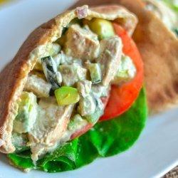 Chicken Salad Stuffed Pitas