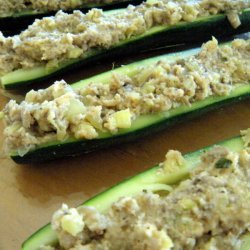 Baked Mushrooms With Zucchini Stuffing