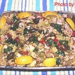 Italian Style Shrimp and Artichoke Antipasto by Sy recipe