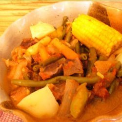 Beef Puchero (A Mexican Stew With Hominy & Vegetables)