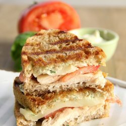 Chicken Mozzarella and Basil Panini