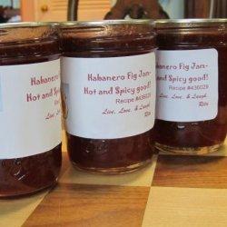 Habanero Fig Jam-Hot and Spicy Good! recipe