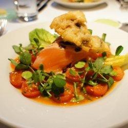 Salmon with Sauce Vierge