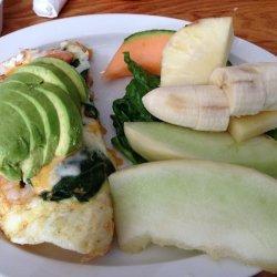 Egg White Omelette with Shrimp/Cheese