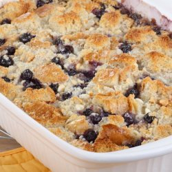 Healthy Peach & Blueberry Cobbler