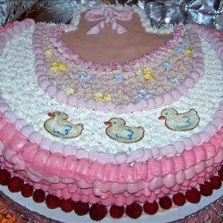 Beautiful Baby Girl Bib Cake recipe