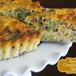 Cheddar Bacon Broccoli Quiche