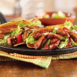 Honey and Spice Sautéed Pork Hand Tacos