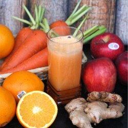 Carrot, Apple. Orange