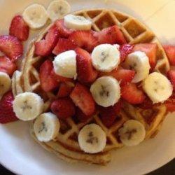 Tasty Low Fat, Multigrain Strawberry Orange Waffles