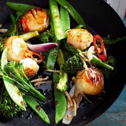 Stir Fried Scallops and Vegetables