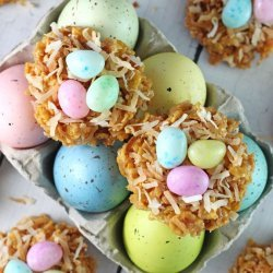 Coconut Cookie Nests