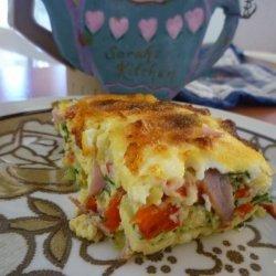 Crustless Ham and Veggie Quiche