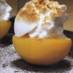 Calanda Peaches With a Meringue Topping