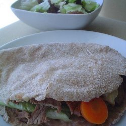 Beef and Vegetables in a Pita