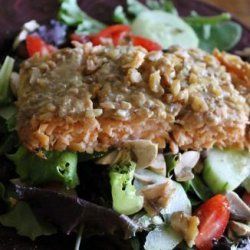 Honey and Walnut Crusted Salmon recipe